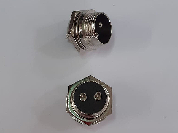 Connettore maschio da pannello 2 poli
