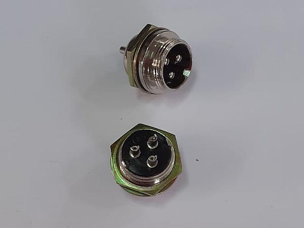 Connettore maschio da pannello 3 poli